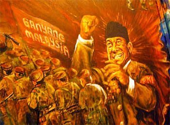 lukisan ganyang malaysia