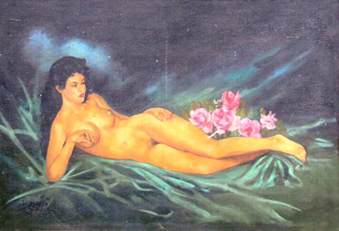 perempuan dalam lukisan roso daras