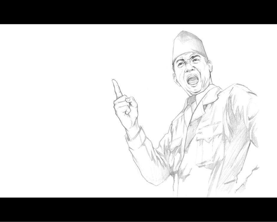 Sketsa Bung Karno Roso Daras