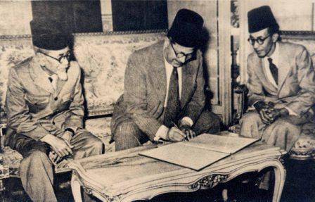 Agus Salim-Menlu Mesir-AR Baswedan-1947