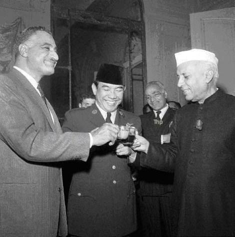 Nasser-Bung Karno-Nehru
